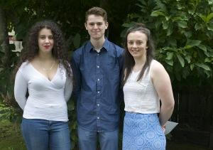 Sarah, Zak and Chelsea